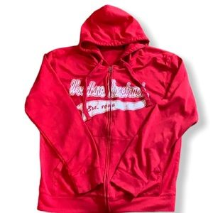 Thick Red hoodie with zipper - very warm